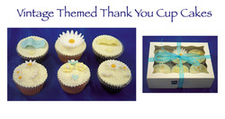 Vintage Themed Thank You Cupcakes (Rachael)