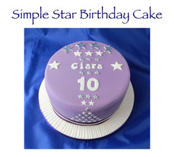 Simple Star Cake