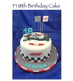 18th F1 Car Cake