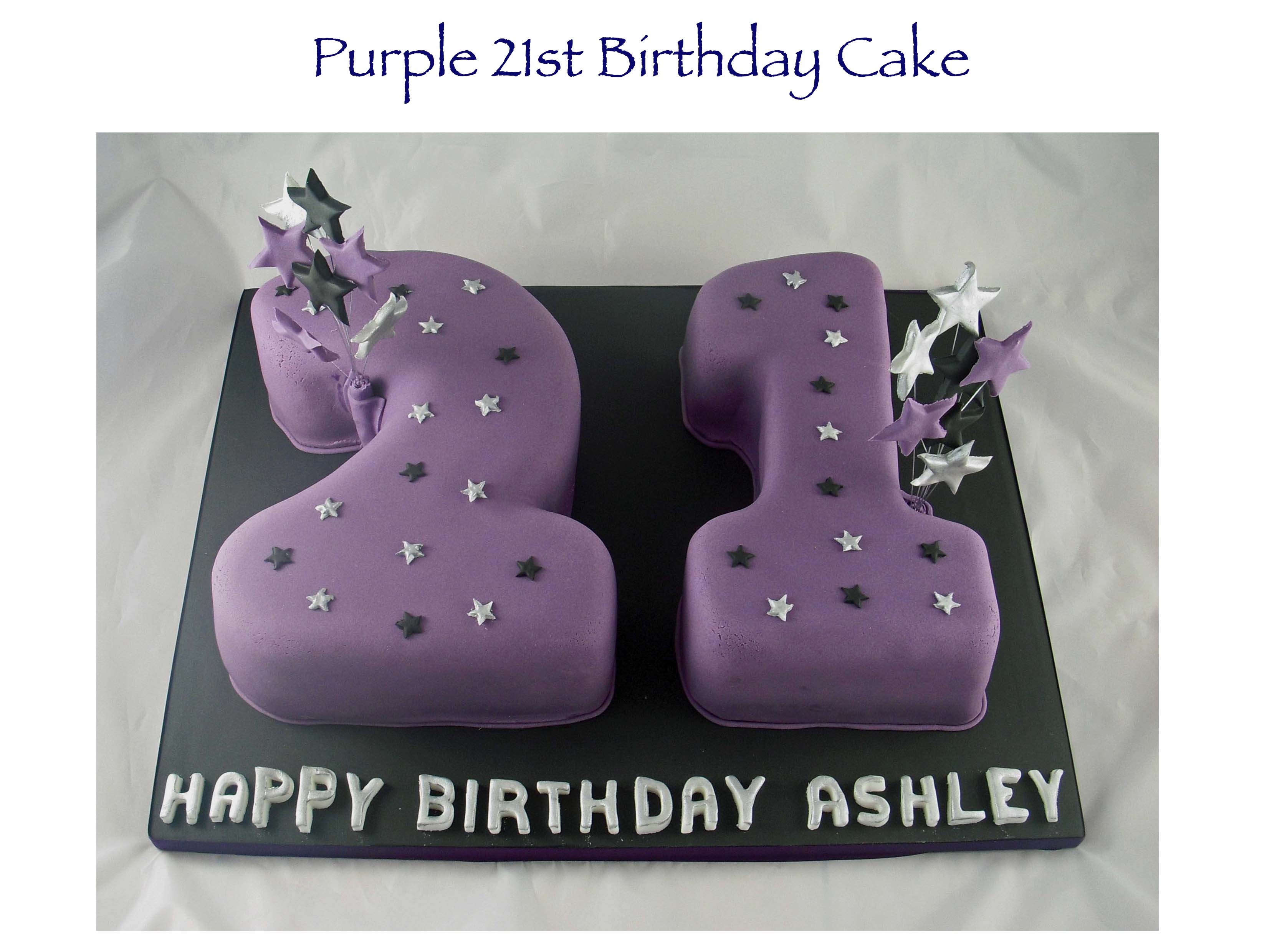 Purple 21st Birthday Cake