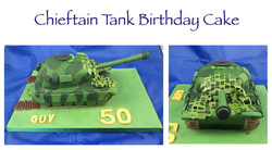 Chieftain Tank Birthday Cake