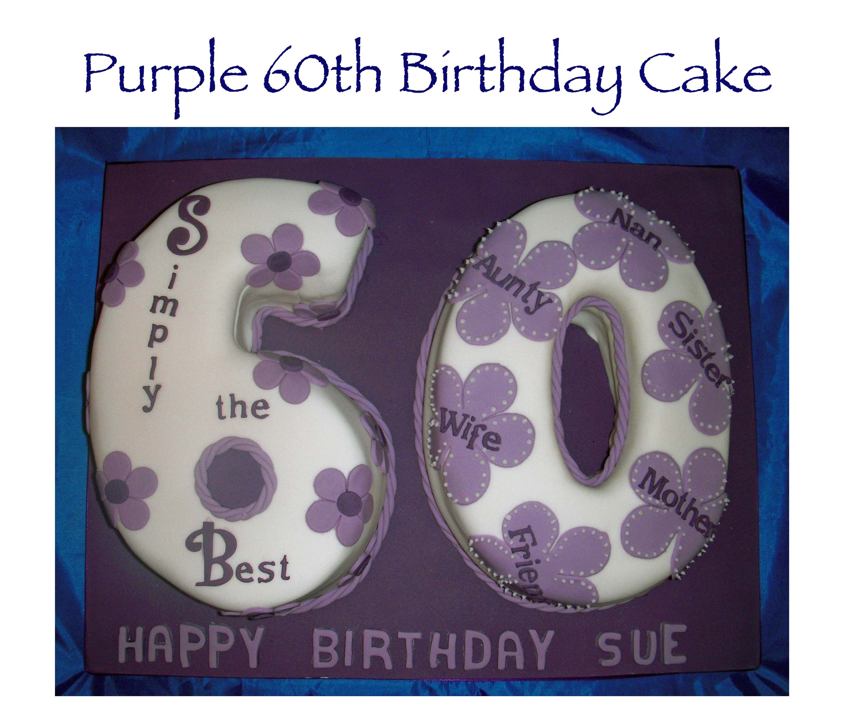 Purple 60th Birthday Cake