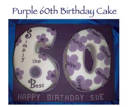 Purple 60th Birthday Cake