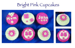 Bright Pink Cupcakes