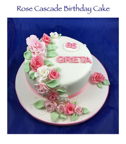 Rose Cascade Birthday Cake