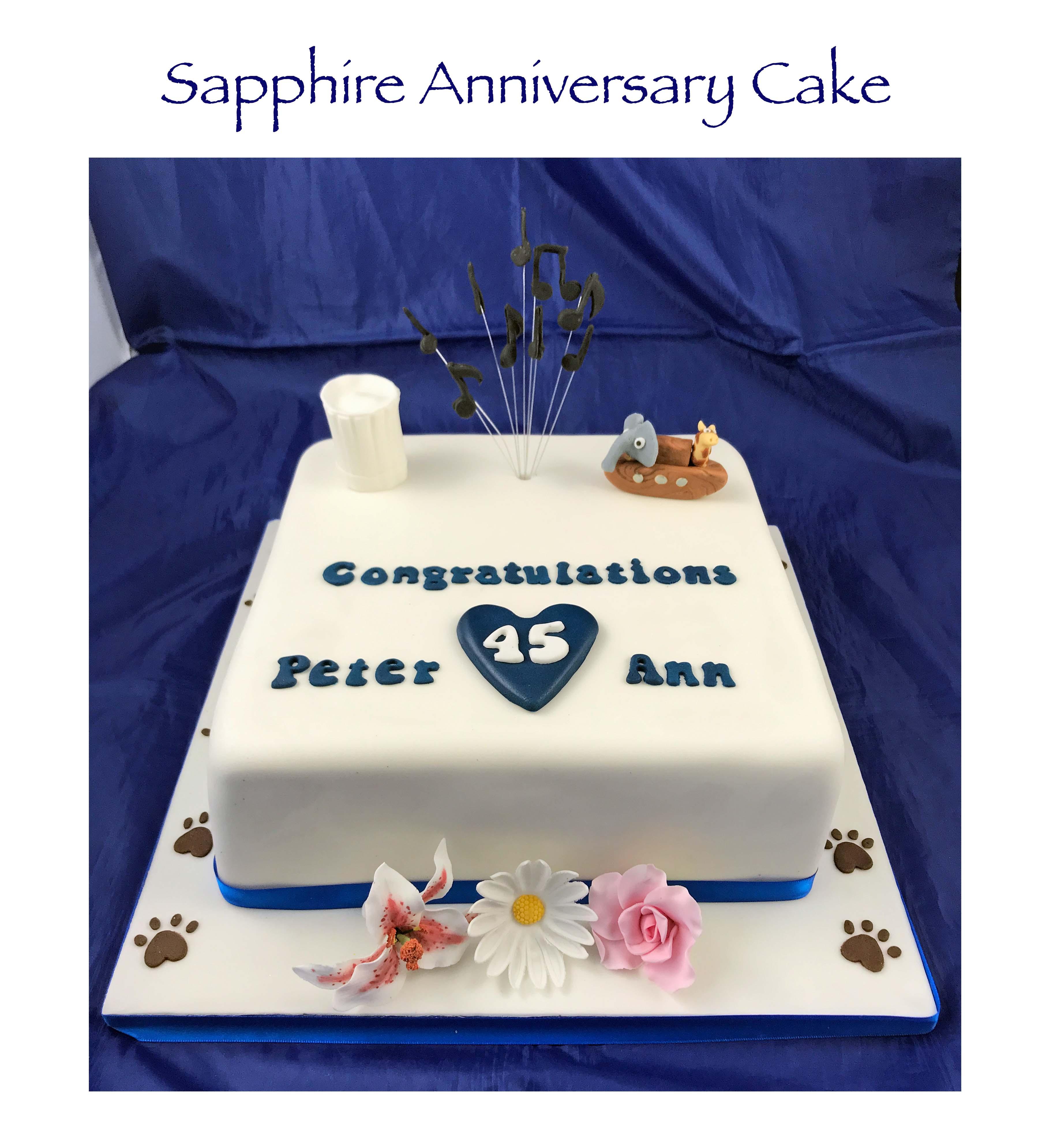 Sapphire Anniversary Cake