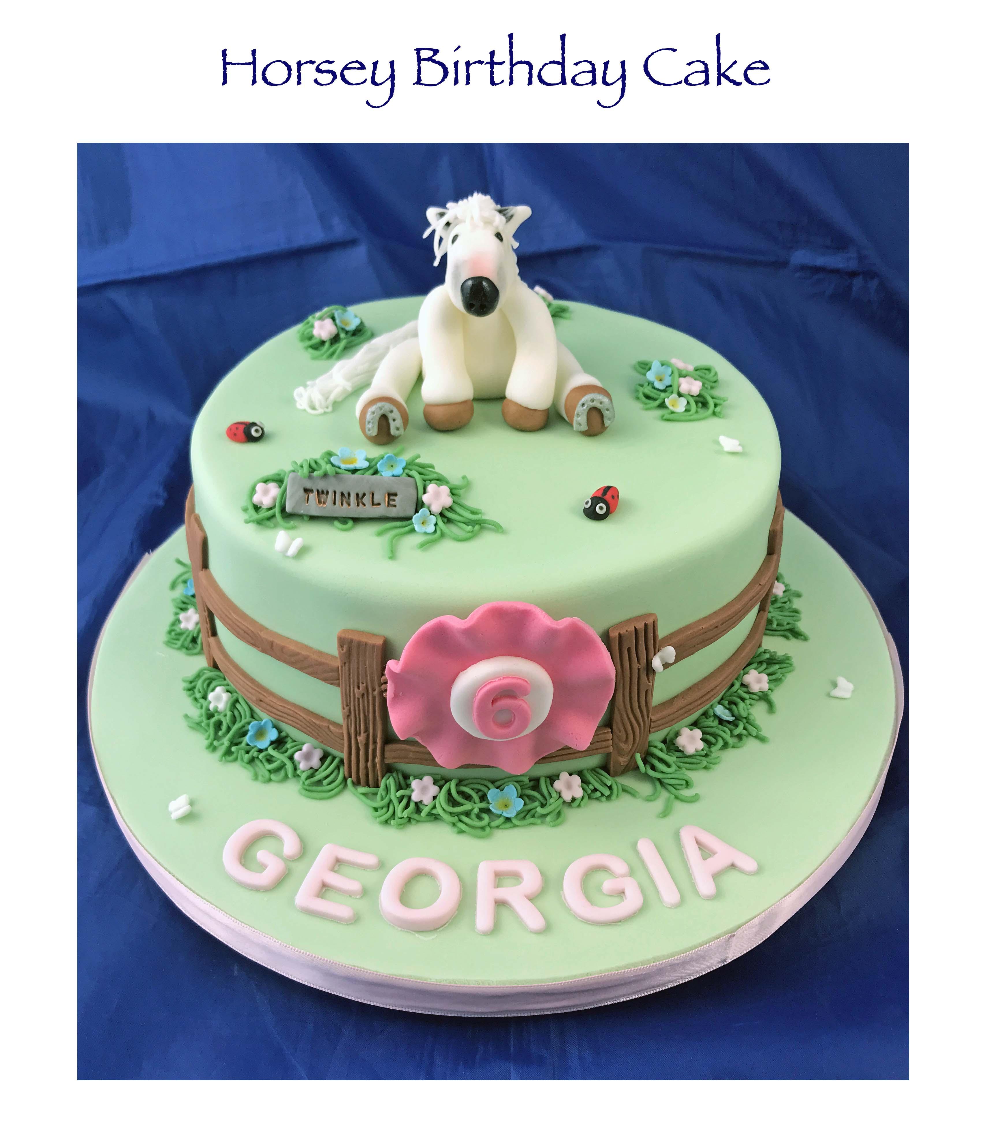 Horsey Birthday Cake 2