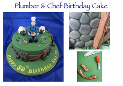 Plumber and Chef Birthday Cake
