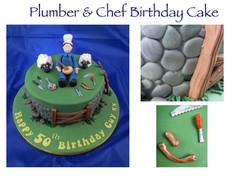Plumber and Chef Birthday Cake