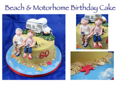 Beach and Motorhome Birthday Cake