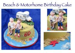 Beach and Motorhome Birthday Cake