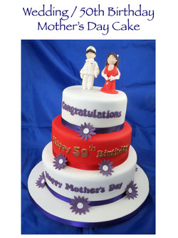 Red Wedding - 50th Birthday - Mother's Day Cake