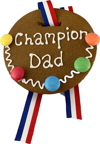 Champion Dad Gingerbread Medal