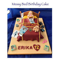 Messy Bed & Harry Potter Cake