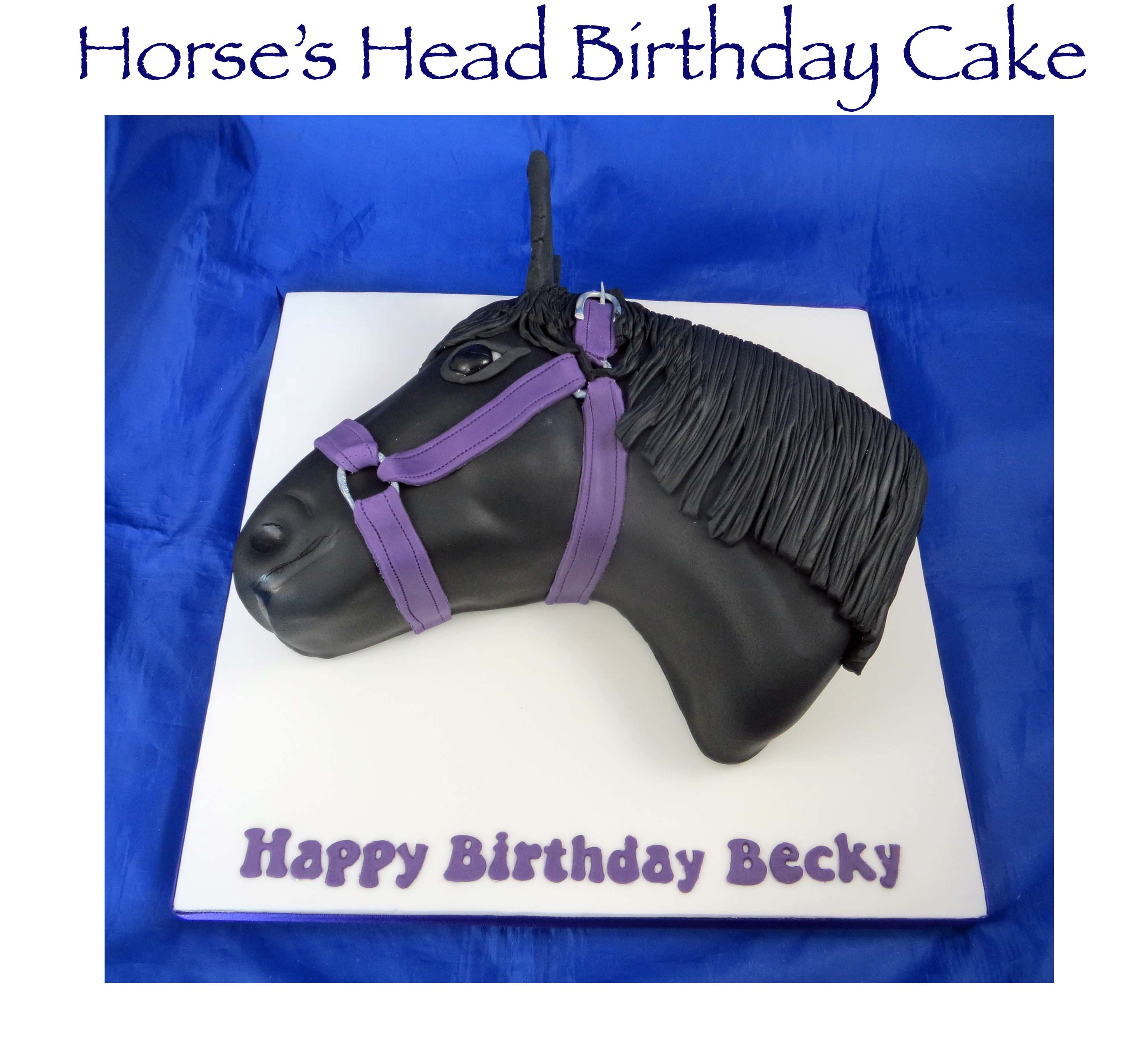 Horse's Head Birthday Cake