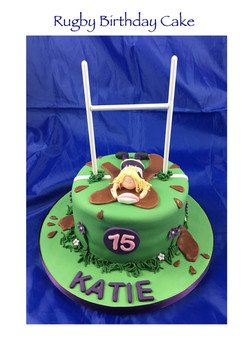 Rugby Birthday Cake (Katie)