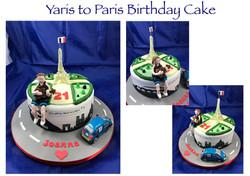 Yaris to Paris Birthday Cake