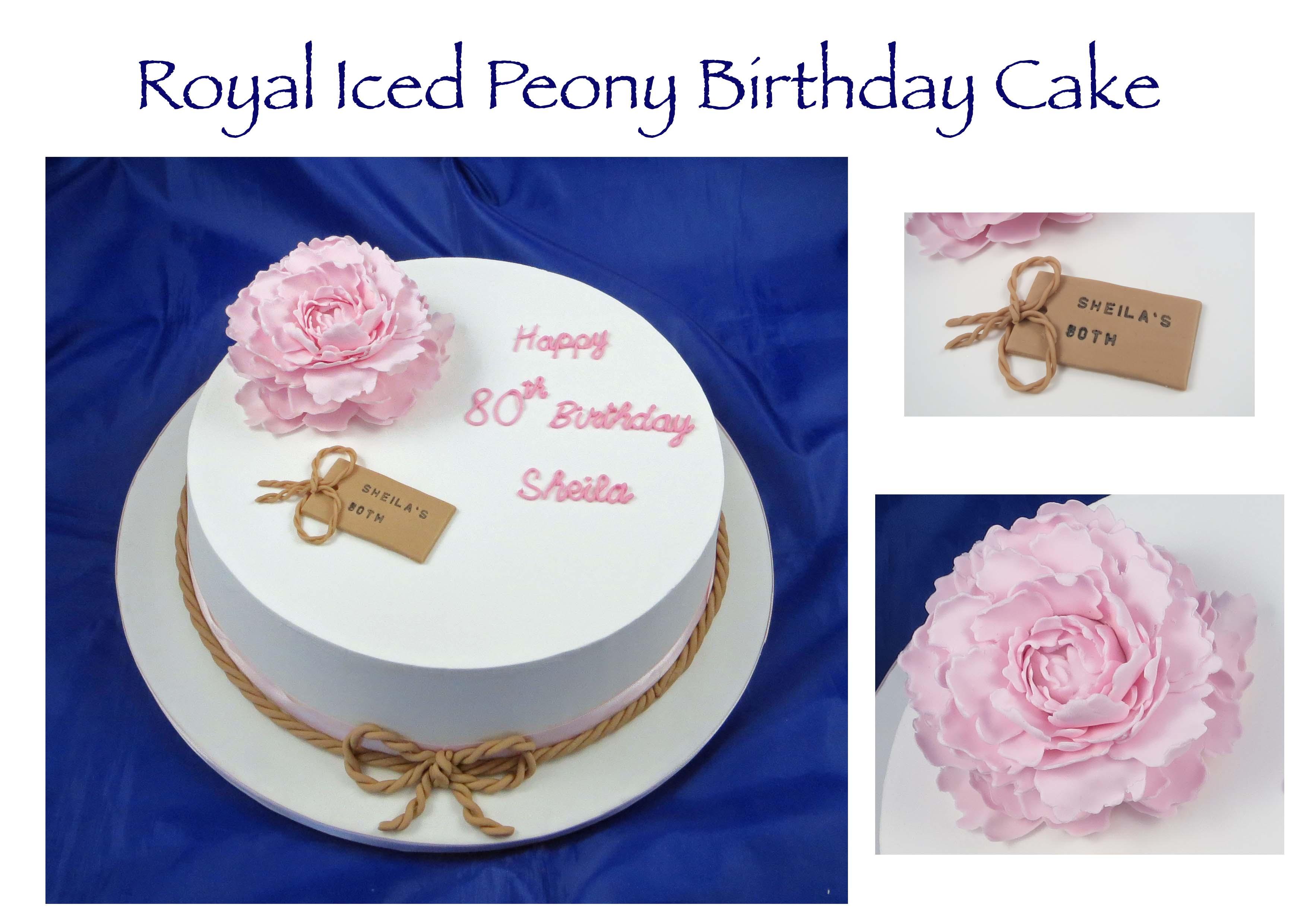 Royal Iced Peony Cake