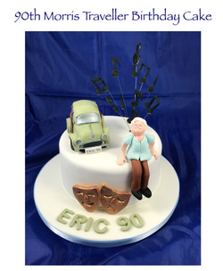 Morris Traveller 90th Birthday Cake