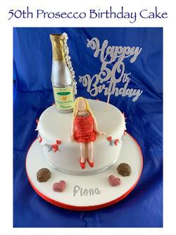 50th Prosecco Birthday Cake