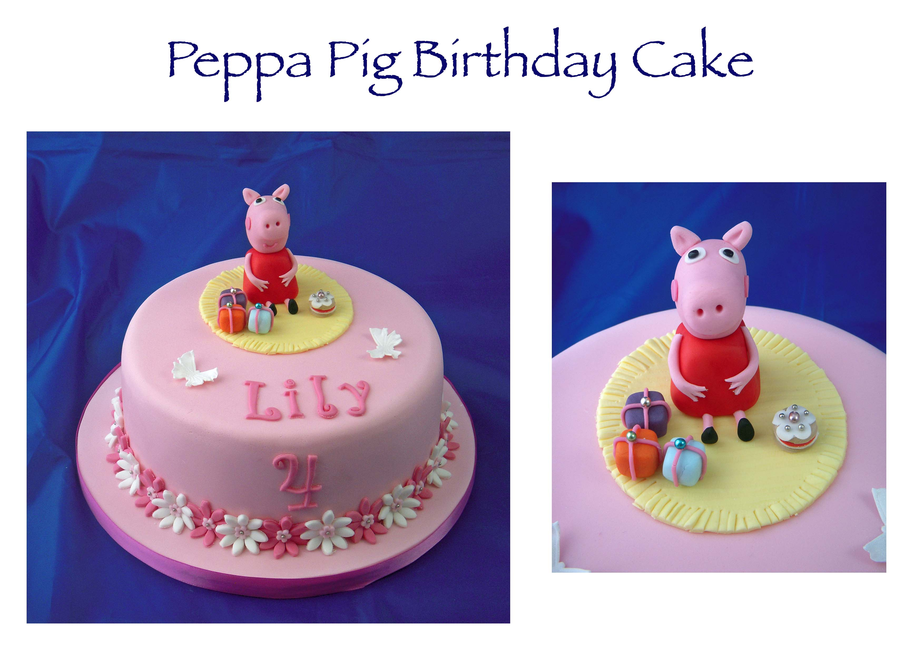 Peppa Pig Cake (dummy)