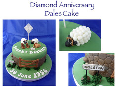 60th Anniversary Dales Themed Cake