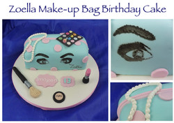 Zoella Make-up Bag Birthday Cake