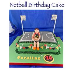 Netball Court Birthday Cake
