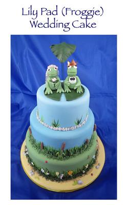 Lily Pad Wedding Cake