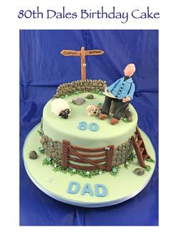 80th Dales Walking Cake