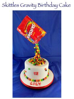 Skittles Gravity Cake