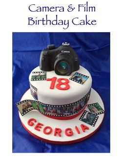 Camera and Film Birthday Cake