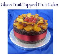 Glace Fruit Topped Fruit Cake