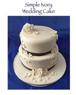 Simple Ivory Wedding Cake