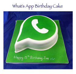 What's App Birthday Cake