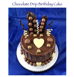Chocolate Drip Birthday Cake (cheapo)