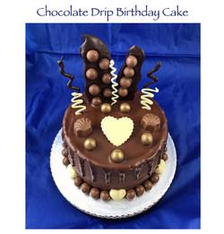 Chocolate Drip Birthday Cake (cheapo)
