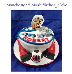 Manchester and Music Birthday Cake