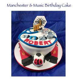 Manchester and Music Birthday Cake