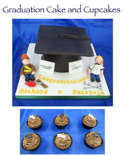Graduation Cake and Cupcakes