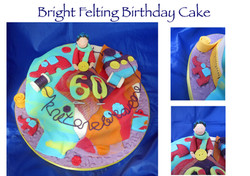 Bright Felting Birthday Cake