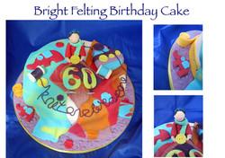 Bright Felting Birthday Cake