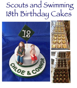Scouts & Swimming Cake and Cupcakes