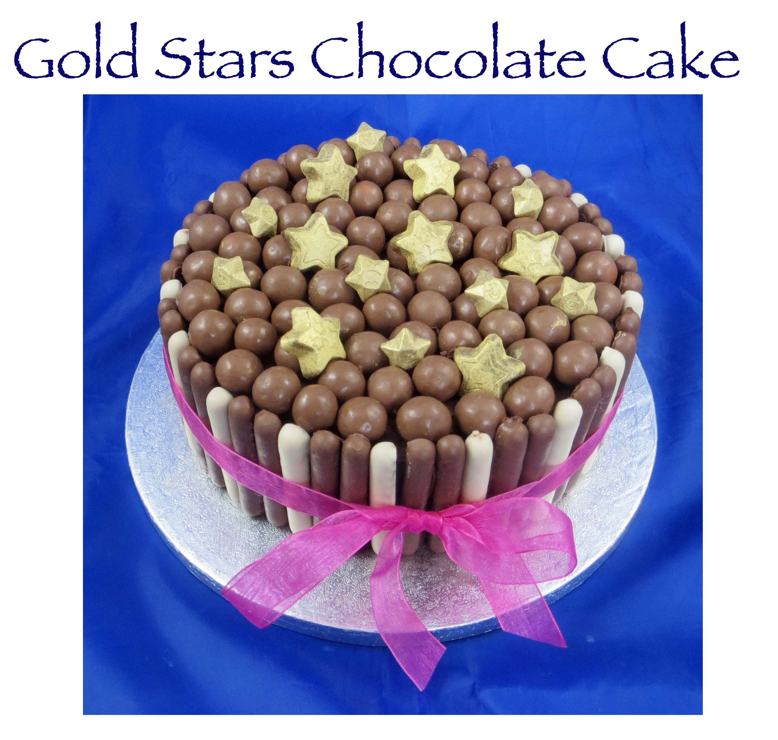 Gold Stars Chocolate Cake