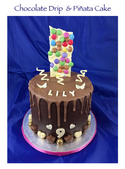 Chocolate Drip and Pinata Cake