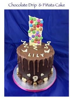 Chocolate Drip and Pinata Cake