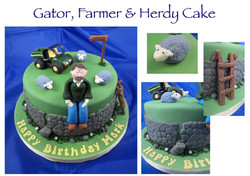 Gator and Farmer Cake