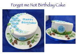 Forget me not birthday cake