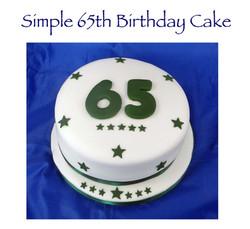 Simple 65th Birthday Cake