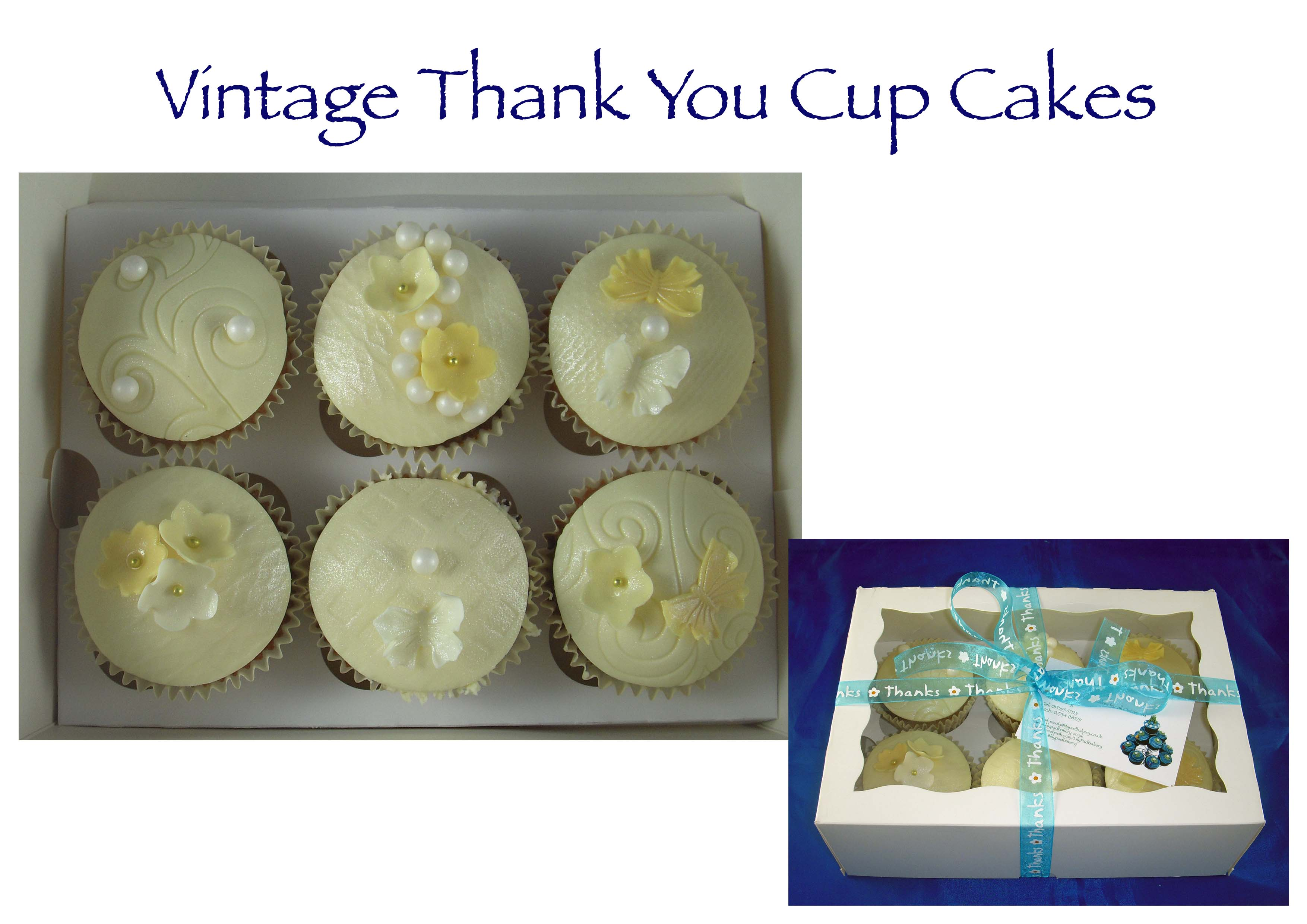 Vintage thank you cupcakes